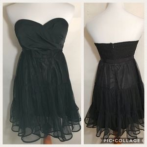 Do & Be Black Strapless Party MiniDress Sz S Lined